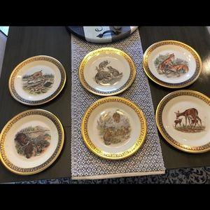 Vintage LENOX BOEHM Woodland Wildlife Plates 1970s